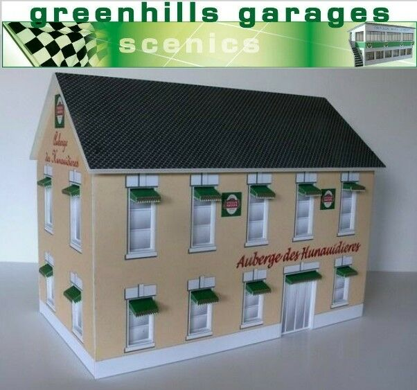 Greenhills Scalextric Slot Car Building Auberge Des Hunaudieres Model 1 32 Sc...