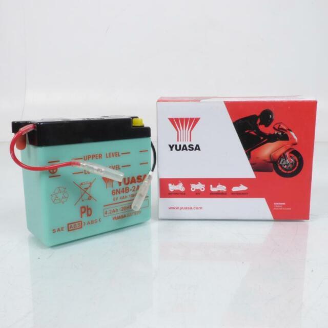 Batteria Yuasa Per Moto Suzuki 50 Rv 1973 Per 1978 6N4B-2A/6V 4Ah Nuovo