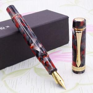 LIY-Marble-Resin-Acrylic-Fountain-Pen-Schmidt-Nib-Converter-F-Gift-Box-Weiying