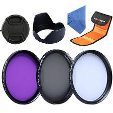 55mm Lens Filter Kit UV FLD CPL for Sony Alpha A230 A380 A330 + Lens Hood Cap