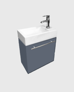 Modern Gray Wall Mount Bathroom Vanities White Sink Vanity With