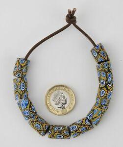 10 Venetian glass beads. African millefiori trade beads.