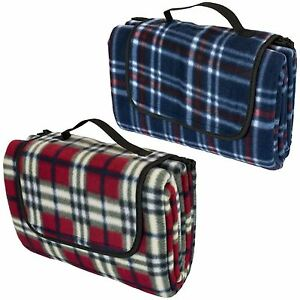 Image Is Loading Tartan Picnic Blanket Waterproof Backing Large Folding Camping