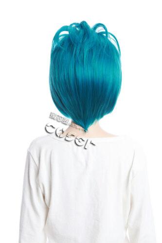 W-171 KATEKYO Hitman Reborn Daemon Spade Cosplay Parrucca Wig Blu Turchese Blue