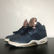 sports shoes 48972 c68d1 Nike Mens Air Jordan 5 Retro V Bronze Tongue Obsidian Blue Navy Aj5  136027-416