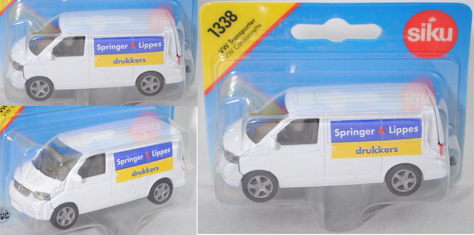Siku Super 1338 00423 VW t5 t5 t5 Transporter Springer & Lippes drukkers, colección d38e8b