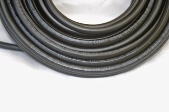 125FT Cat6'e Outdoor Direct Burial Cable cord waterproof Ethernet network Inwall