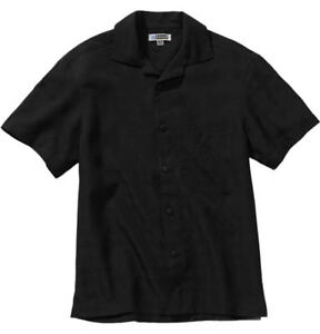 Edwards-Garment-Men-039-s-Open-Neck-Polyester-Short-Sleeve-Classic-Camp-Shirt-1030