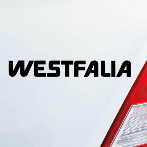 Auto Aufkleber für WESTFALIA Fans Camping Wohnwagen NRW GERMANY Sticker 078