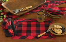 Placemat - Buffalo Check by Park Designs - Kitchen Dining Black Red