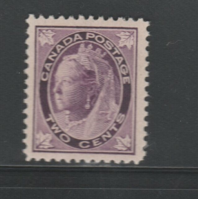 Canada #68 mint VF OG H 1897 Queen Victoria 2c purple Maple Leaf