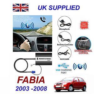 for skoda fabia bluetooth hands free phone aux input mp3 1 0a usb rh ebay com