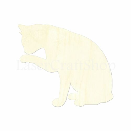Silhouette Tags Ornaments Laser Cut #1436 Cat Wooden Cutout Shape
