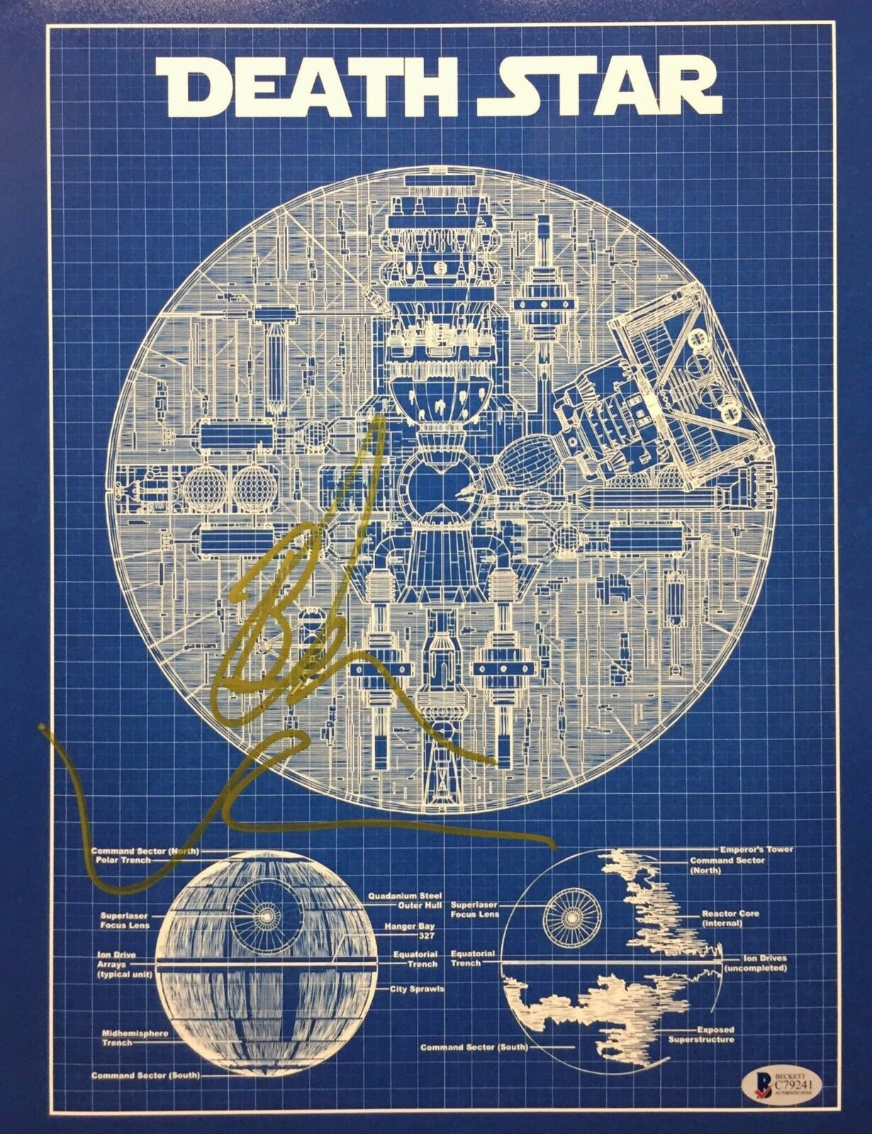 Ben Mendelsohn Signed Star Wars *Rogue One 11x14 Photo *Death Star BAS C79241