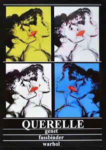 Werbeplakat Querelle De Brest Fassbinder Franco Schwarz Brad Davis Andy Warhol
