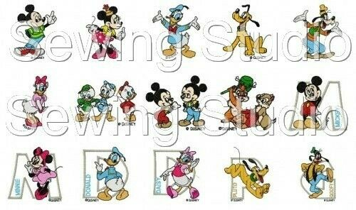 MACHINE EMBROIDERY DESIGNS ON CD OR USB DISNEY/'S MICKEY /& FRIENDS 4 DESIGNS