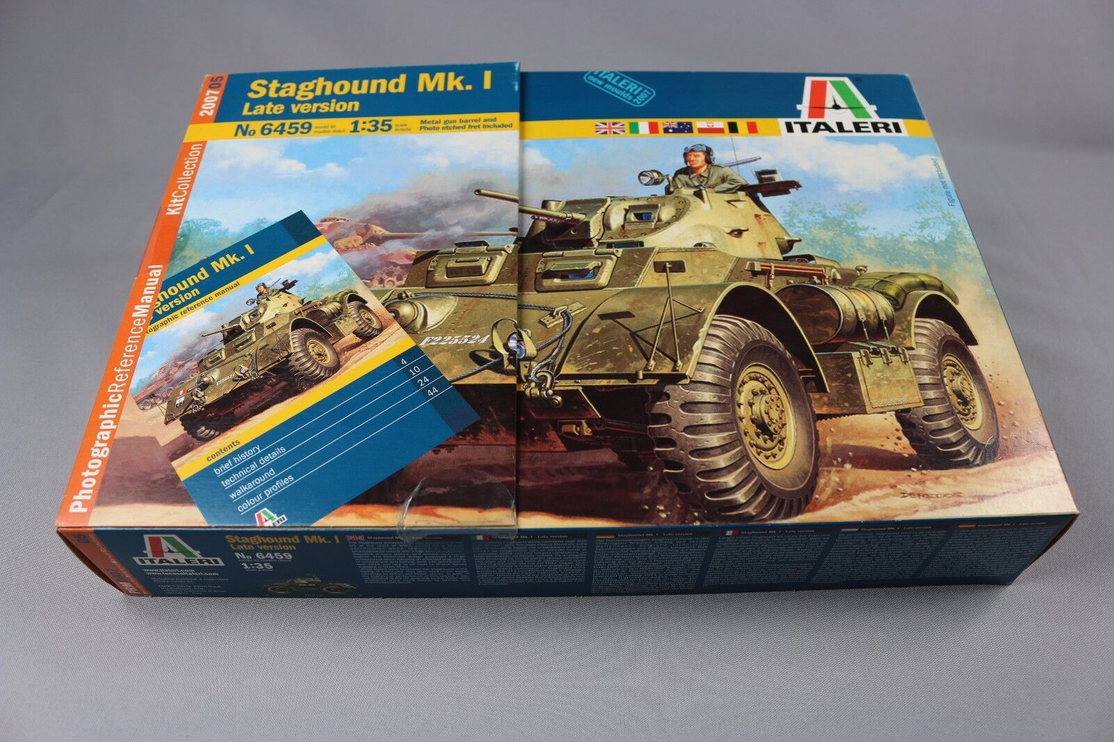 ZC049 Italeri 6459 Maquette Chars Tank 1 35 Staghound Mk. 1 Late Version 2007