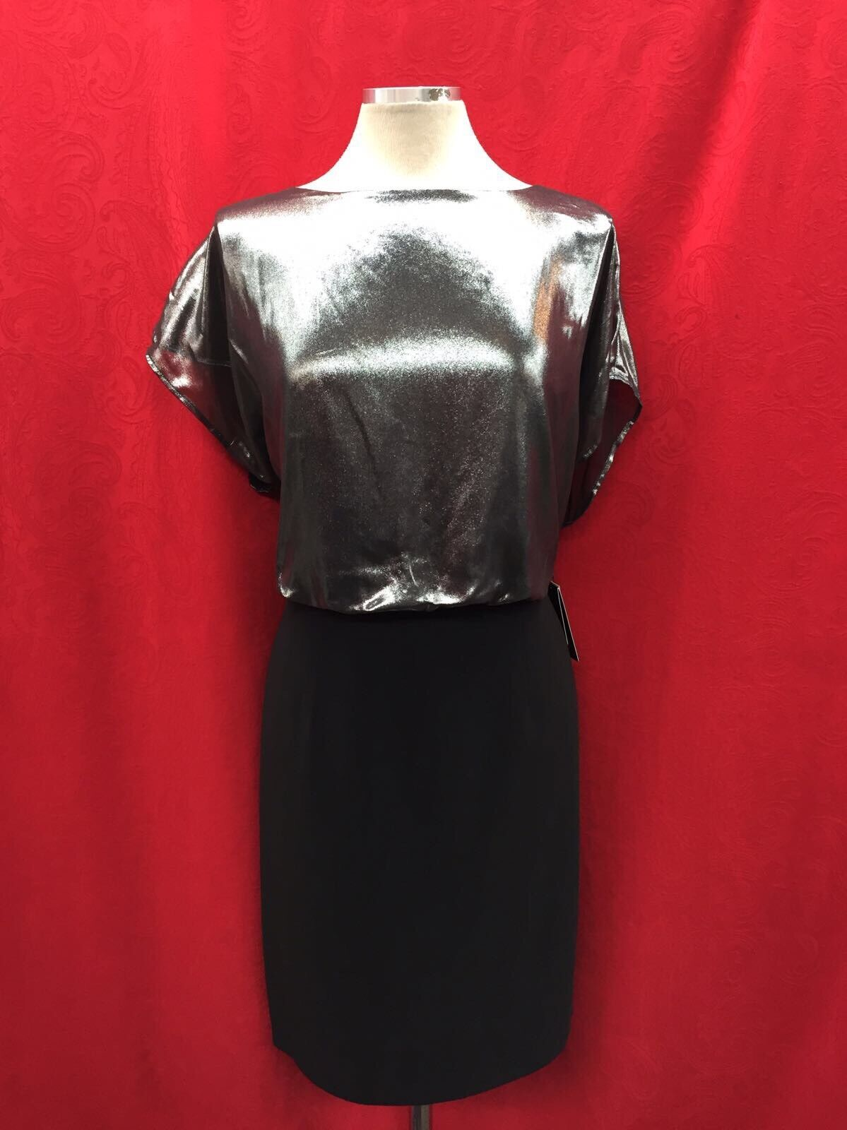ADRIANNA PAPELL DRESS NEW WITH TAG RETAIL LENGTH 41' SIZE 24W LINED STRETCH