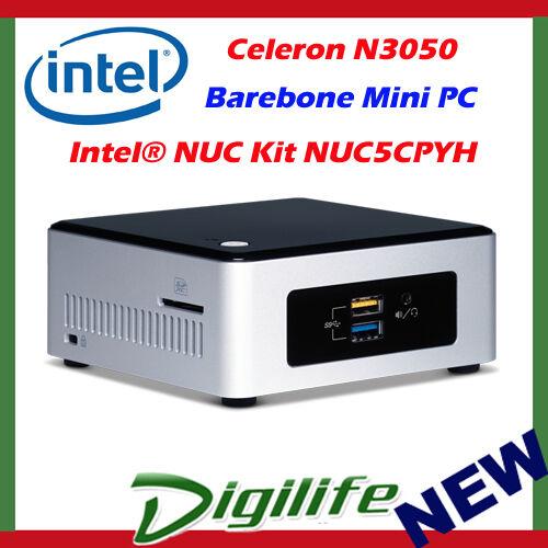 1 of 1 - Intel NUC Barebone Kit NUC5CPYH Celeron N3050 Mini PC HDMI WIFI USB3.0 Desktop