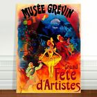 """Vintage French Theatre Poster Art ~ CANVAS PRINT 16x12"""" Musee Grevin"""
