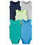 thumbnail 4 - Carters Bodysuits Baby Boys Short Sleeve, Sleeveless, Unisex Sets New