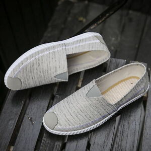 Men-039-s-Sneakers-Casual-Loafers-Slip-On-Low-Top-Canvas-Shoes-Driving-42