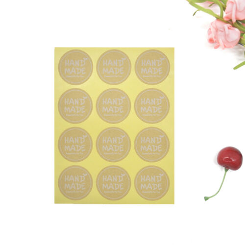 Lovely Handmade With Love Label Sealing Stickers Candy Bag Wedding Party Gift