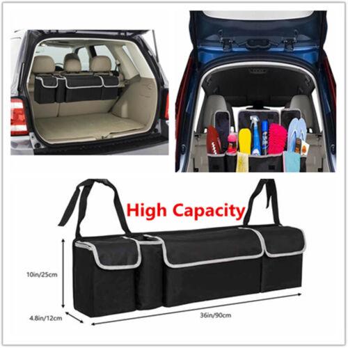 High Capacity Portable Hanging Organizer Storage Bag For Car SUV Trunk Backseat