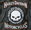 thumbnail 1 - HARLEY ROCKERS WILLIE G. SKULL Motorcycle Jacket Vest BACK PATCH large 3pc. Set