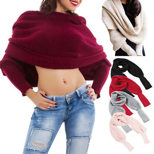 Sciarpa maniche lunghe Coprispalle donna tricot maglione maglia polsini CS-1728