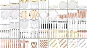PARTY-TABLE-WEAR-ROSE-GOLD-PREMIUM-PLASTIC-SUMMER-FIESTA-BEACH-BBQ-BIRTHDAY