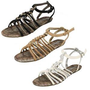 Vendita-da-Donna-F0R703-Sandali-Stile-Gladiatore-da-Savannah