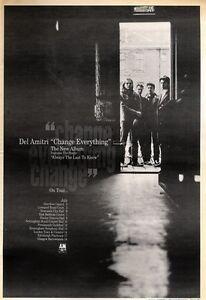 6-6-92Pgn25-DEL-AMITRI-CHANGE-EVERYTHING-ALBUM-TOUR-ADVERT-15X11-034-FRAMED