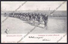 MILITARE BERSAGLIERE 04 BERSAGLIERI CICLISTI - CANE Cartolina viaggiata 1902