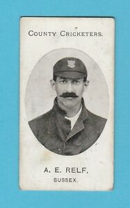 CRICKET-TADDY-amp-CO-VERY-RARE-CRICKET-CARD-A-E-RELF-OF-SUSSEX-1907