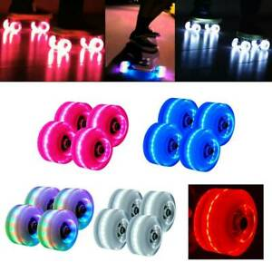 4pcs-82A-Luminous-Light-Up-Quad-Roller-Skate-Wheel-w-BankRoll-Bearing-Installed