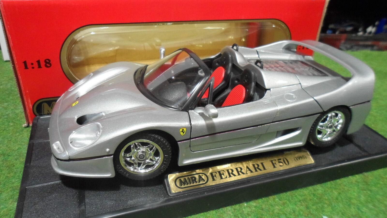 FERRARI F50 barchetta Cabriolet 1995 1 18 MIRA 6226 voiture miniature collection