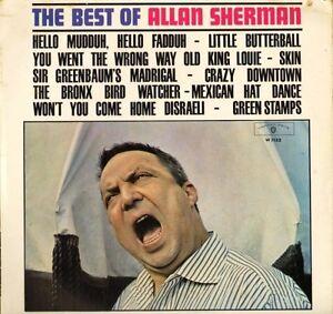 Allan-Sherman-lo-mejor-de-W-1132-A1-B1-1st-prensa-Reino-Unido-Warner-Lp-PS-EX-en-muy-buena-condicion