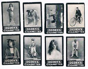 Lot-of-8-Original-1901-Ogden-039-s-Tab-Cigarettes-Series-B-Tobacco-Cards