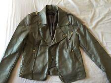 MISS SELFRIDGE beige faux leather jacket UK size 8