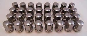 32-Chevy-Silverado-GMC-Sierra-2500-3500-HD-Factory-OEM-Chrome-Wheel-Lug-Nuts