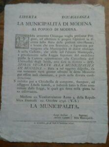 1796-MODENA-OCCUPAZIONE-FRANCESE-SU-CASSETTA-DOVE-METTERE-LETTERE-SEGRETE