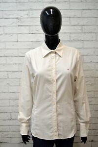 Camicia-Donna-GANT-Classic-Taglia-L-Maglia-Manica-Lunga-Shirt-Elastica-a-Righe