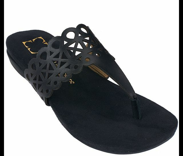 Liz Claiborne New York Leather Sandals SIZE with Cut-Out Design PICK SIZE Sandals & COLOR NW 9af196