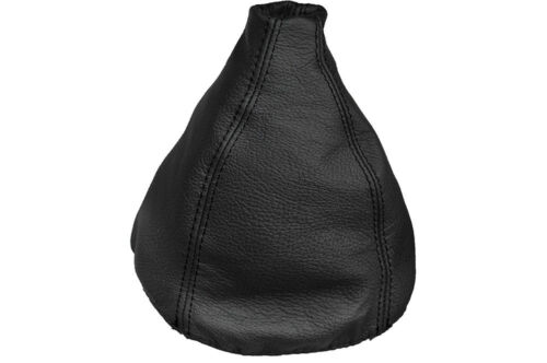 BLACK STITCHING FITS SAAB 9-3 1999-2002 MANUAL REAL LEATHER SHIFT BOOT