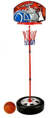 Canestro Basket Per Bambini Con Base Tonda  Altezza Regolabile 93-120 Cm