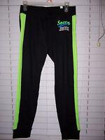 Justice Active Soft Soccer Leggings Girl's Size 20 Black/green