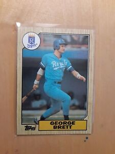 1987-Topps-George-Brett-400-Kansas-City-Royals-Baseball-Card-3rd-Base-HOF-AVG