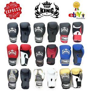 Top-King-Gloves-Muay-Thai-Kick-Boxing-TKBGSA-TKBGUV-TKBGSV-8-10-12-14-16-18-oz