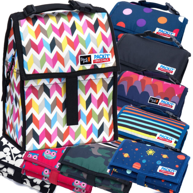 """PackIt 8"""" Freezable Insulated Lunch Bag, Freezer/Cooler Bag, Various Colors"""